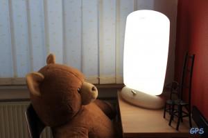 Teddy bei der Lichttherapie