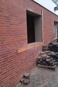 Umbau Gemeinschaftspraxis Praxis Bergen: Außenarbeiten