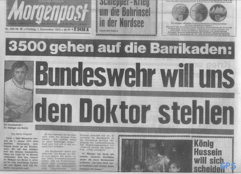 Historische Aufnahme Praxis Sülze - Morgenpost